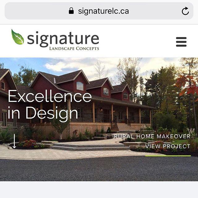 It's a BIG Day! The new site is live! Check it out - www.signaturelc.ca Thanks to @workwiththey. All part of a big week...see you at the Quinte Home & Lifestyle Show this weekend! @quintehomebuilders
