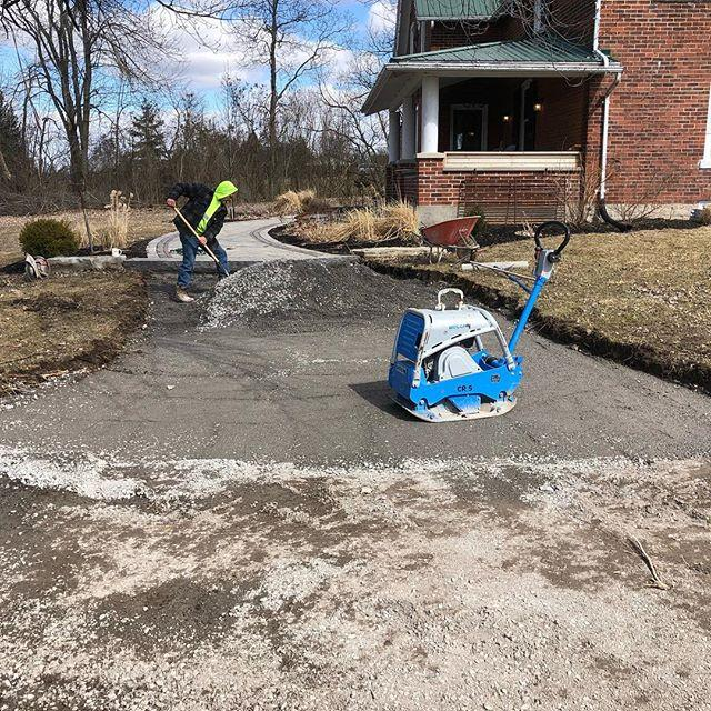 No April Fools here! Preparation on this walkway extension went down today despite some less than Spring like temperatures!